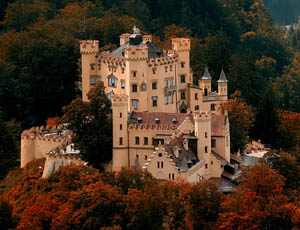 Hohenschwangau Castle The Older Neighbour Of Neuschwanstein A Bavarian Example Windsor Gothic Revival In Germany