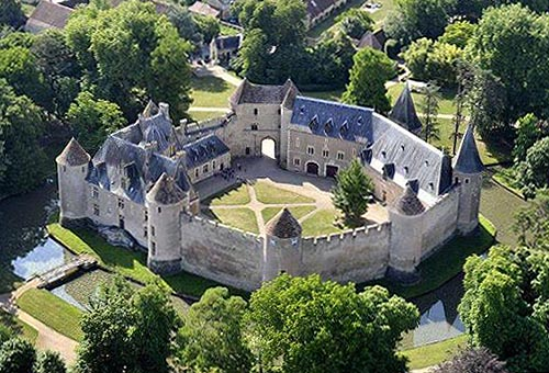 French Chateau With Moat