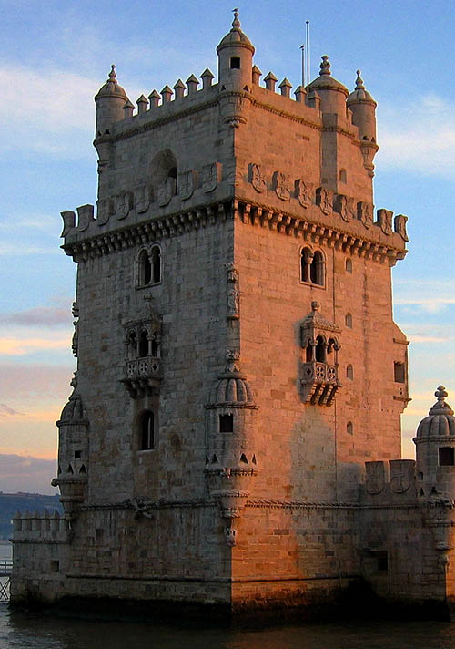 Torre de Belém (Belém Tower or the Tower of St Vincent), Santa Maria de Belém, Lisbon, Portugal - www.castlesandmanorhouses.com