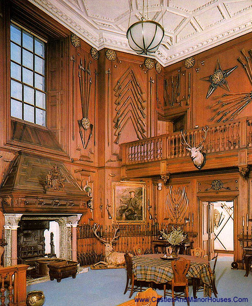 The Entrance Hall, Blair Castle, Blair Atholl, Perthshire, Scotland - www.castlesandmanorhouses.com