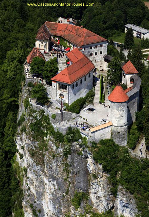 Bled Castle, above the city of Bled, Slovenia - www.castlesandmanorhouses.com