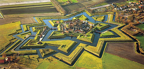 Fort Bourtange, in the village of Bourtange, Groningen, Netherlands.  - www.castlesandmanorhouses.com
