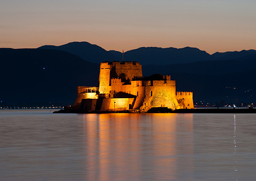 The castle of Bourtzi, Nafplio, Argolis, Peloponnese, Greece. - www.castlesandmanorhouses.com