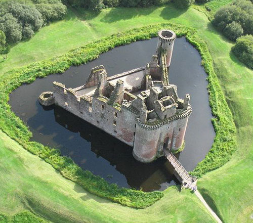 Caerlaverock Castle, on the southern coast of Scotland, 11 kilometres south of Dumfries, on the edge of the Caerlaverock National Nature Reserve. - www.castlesandmanorhouses.com
