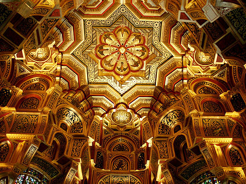 Ceiling, Cardiff Castle, Cardiff, Wales. - www.castlesandmanorhouses.com