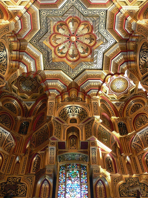 The Arab Cieling, Cardiff Castle, Cardiff, Wales - www.castlesandmanorhouses.com