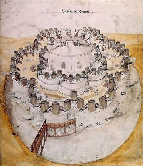 Design for a 'Device Fort' or 'Henrician Castle'. - www.castlesandmanorhouses.com