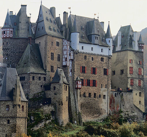Germany Eltz Castle Burg Is A Meval In The Hills Above Moe