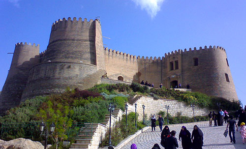 Falak-ol-Aflak Castle, within the city of Khorramabad, Lorestan Province, Iran. - www.castlesandmanorhouses.com