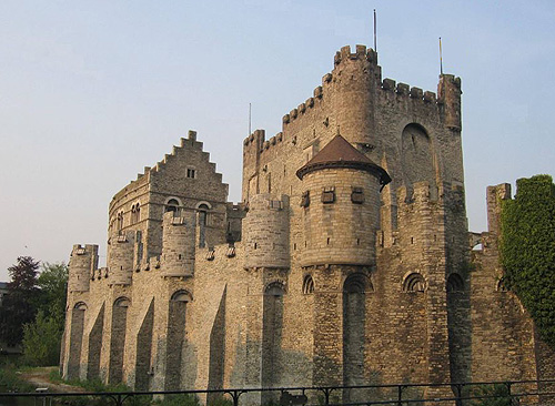 "The Gravensteen (""castle of the count""), Sint-Veerleplein, Gent, Belgium - www.castlesandmanorhouses.com"