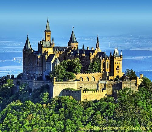 Hohenzollern Castle, c 50 kilometers south of Stuttgart, Germany - www.castlesandmanorhouses.com