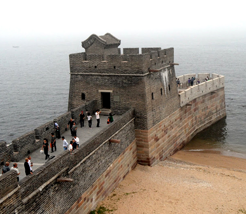 "Laolongtou or ""The Old Dragon's Head"" is part of the Shanhai Pass (also known as Shanhaiguan) of the Great Wall of China - www.castlesandmanorhouses.com"