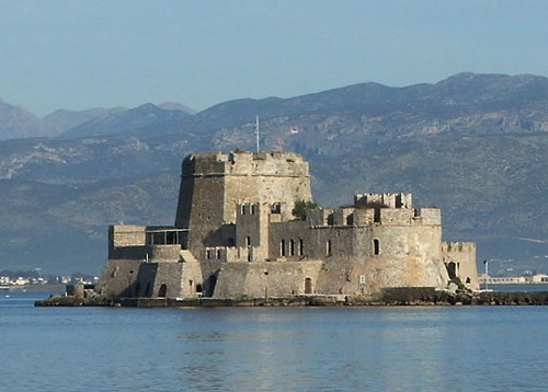 Castle of Bourtzi, Harbour of Nafplio, Greece - www.castlesandmanorhouses.com