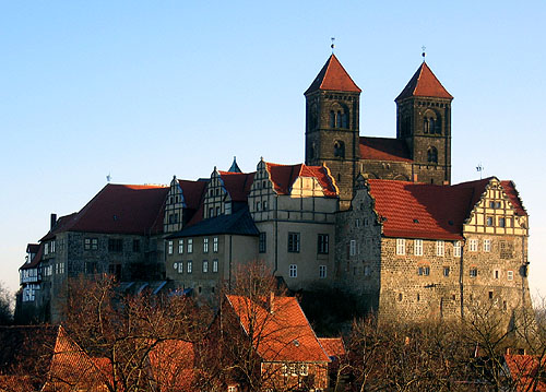 Schloss Quedlinburg, Quedlinburg, north of the Harz mountains, Harz disrtrict, Saxony-Anhalt, Germany - www.castlesandmanorhouses.com
