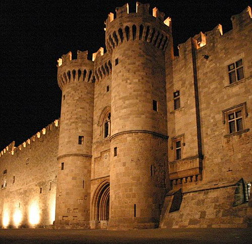 The Palace of the Grand Master of the Knights of Rhodes, on the island of Rhodes in Greece. - www.castlesandmanorhouses.com