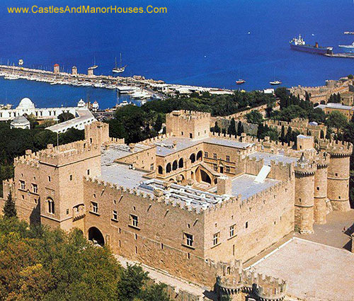 Palace of the Grand Master of the Knights of Rhodes, on the island of Rhodes in Greece. - www.castlesandmanorhouses.com