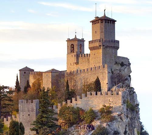 Photographs of San Marino Castles and Manor Houses