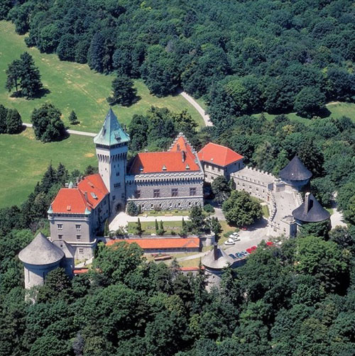 Smolenický zámok (Smolenice Castle) lies on the eastern slope of the LittleCarpathians, near the town of Smolenice, Slovakia. - www.castlesandmanorhouses.com