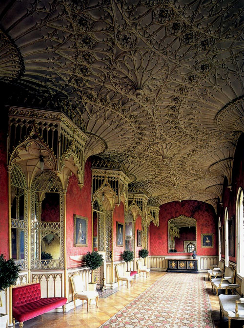 Grand Gallery, Strawberry Hill House, Twickenham, London - www.castlesandmanorhouses.com