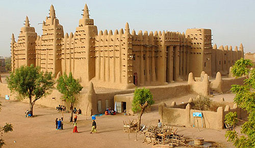 The University of Timbuktu, located in the city of Timbuktu, Mali, West Africa - www.castlesandmanorhouses.com
