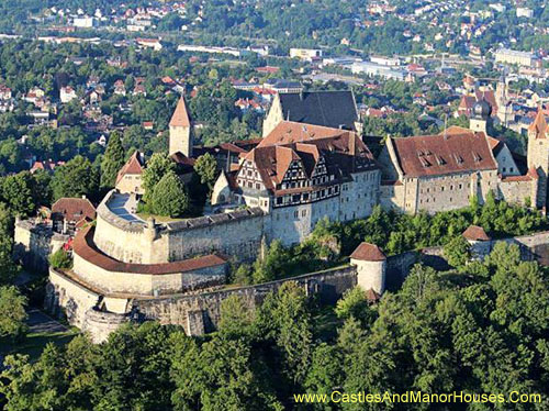 The Veste Coburg, or Coburg fortress, is situated on a hill above the city of Coburg, Bavaria, Germany - www.castlesandmanorhouses.com