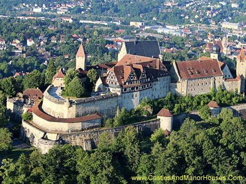 The Veste Coburg, or Coburg Fortress, on a hill above the city of Coburg, Bavaria, GERMANY. - www.castlesandmanorhouses.com