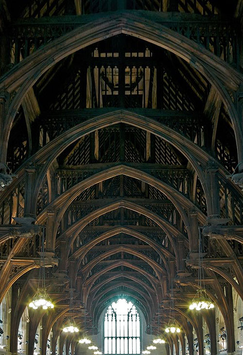 The Angel Roof at Westminster Hall (looking East) - www.castlesandmanorhouses.com