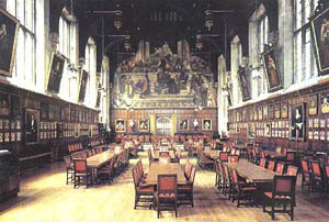 The Great Hall In Barley York Restored To Replicate Its Appearance Around 1483 Notice Fireplace Centre Of Room