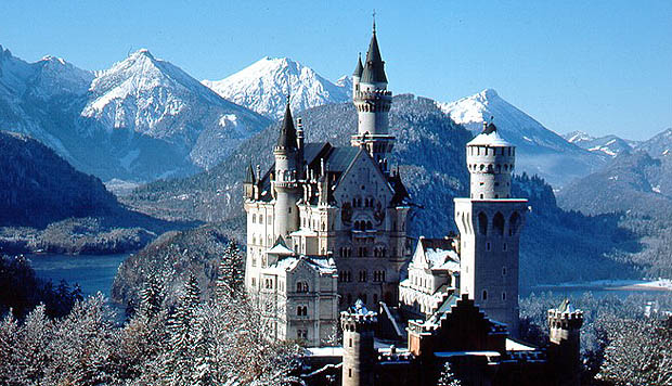 Neuschwanstein built by Ludwig II of Bavaria