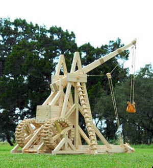Modern reproduction of a Medieval Trebuchet